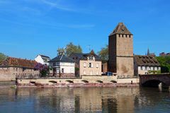 Ponts Couverts tower in Strasbourg Stock Photo