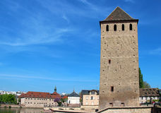 Ponts Couverts tower in Strasbourg Stock Image