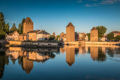 Ponts Couverts tower in Strasbourg in France Stock Photo