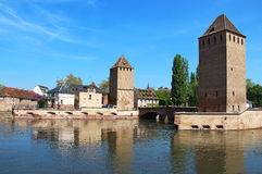 Ponts Couverts towers in Strasbourg Royalty Free Stock Image