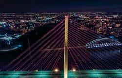 Ponts d'éclairage de Danzig photos stock