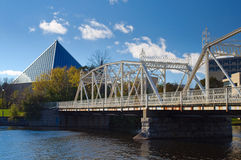 Ponts de Minto, Ottawa Photos stock