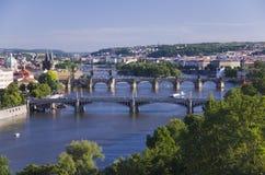 Ponts de Prague Images libres de droits