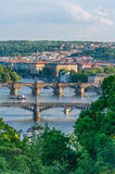 Ponts de Prague Images libres de droits