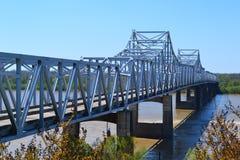 Ponts du fleuve Mississippi images libres de droits