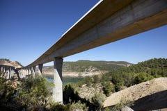 Ponts en chemin de fer et en route Images libres de droits