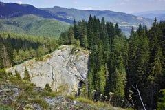 Ponts merveilleux étonnants et panorama à la montagne de Rhodopes, Bulgarie Images stock