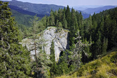 Ponts merveilleux et panorama étonnant à la montagne de Rhodopes, Bulgarie Images libres de droits