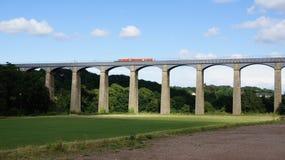 Pontscylite aquaduct, Llangollen canal Stock Images