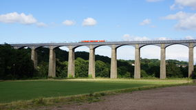 Pontscylite aquaduct, Llangollen-kanaal Stock Afbeeldingen