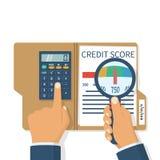 Pontuação de crédito, calibre ilustração royalty free
