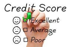 Pontuação de crédito excelente Fotografia de Stock