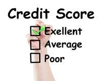 Pontuação de crédito excelente imagens de stock
