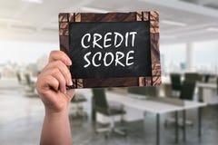Pontuação de crédito no quadro fotos de stock royalty free