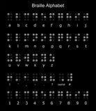 Pontuação e números do alfabeto de Braille Fotografia de Stock Royalty Free