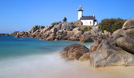 Pontusval lighthouse Stock Images