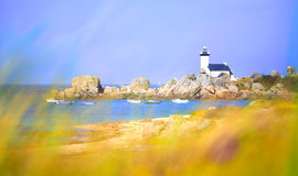 Pontusval Lighthouse Royalty Free Stock Images