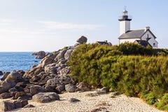 Pontusval Lighthouse Royalty Free Stock Photos