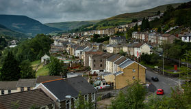 Pontycymer from Pantygog. The village of Pontycymer in the Garw valley, in the county of Bridgend, Wales Royalty Free Stock Photography