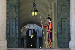 Pontyfikalny Szwajcarski strażnik watykan fotografia stock