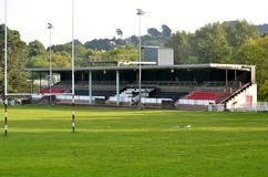 Pontypool rugby pitch Royalty Free Stock Images