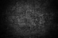 Ponura ścienna tekstura, ciemny tła czerni cement obrazy royalty free