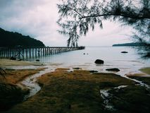 Ponura plaża Zdjęcia Royalty Free