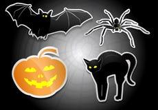 ponurej Halloween ilustracyjnej żniwiarki ustalony guślarki wampira wektor Obraz Stock