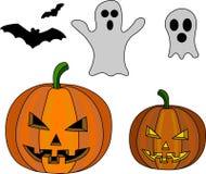 ponurej Halloween ilustracyjnej żniwiarki ustalony guślarki wampira wektor Fotografia Royalty Free
