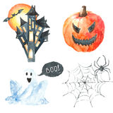 ponurej Halloween ilustracyjnej żniwiarki ustalony guślarki wampira wektor Fotografia Stock
