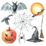 ponurej Halloween ilustracyjnej żniwiarki ustalony guślarki wampira wektor Obraz Royalty Free