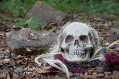 Ponurej żniwiarki Halloween czaszka Zdjęcia Royalty Free