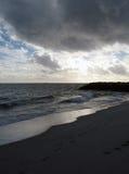 ponuro na plaży Fotografia Royalty Free