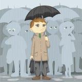 Ponury deszczowy dzień Zdjęcia Stock