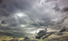 ponury niebo Fotografia Royalty Free