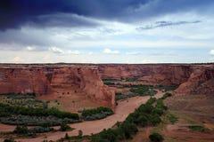 ponury poziomy canyon Zdjęcie Royalty Free