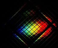 Ponury słoneczny widmo odbija w szklanej płytce Obraz Stock