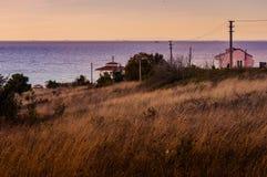 Ponury wieś krajobraz Obraz Royalty Free