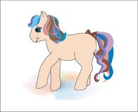 Pony. Sweet pony with a long magic mane from a cild's tale. Vector (cdr stock illustration