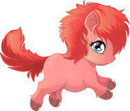 Pony. Beautiful pony drawn on a white background vector illustration