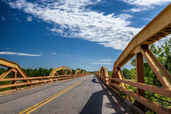 Pony Bridge auf Weg 66 in Oklahoma Lizenzfreies Stockbild