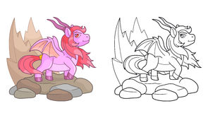 Pony dragon outline image Royalty Free Stock Photos