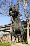 Pony Express Rider Statue Old Town Sacramento Stock Photos