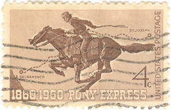 Pony Express Stamp Royalty Free Stock Photo