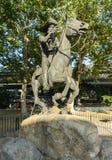 Pony Express Statue stock afbeeldingen