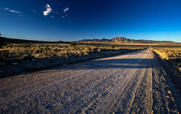 The Pony Express trail raod in Utah. This photo was taken in the west desert of Utah Stock Photography