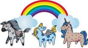 Pony Graphic rainbow Set. Vector Unicorn Collection