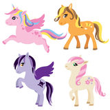 Pony, Horse and Unicorn Set Royalty Free Stock Images