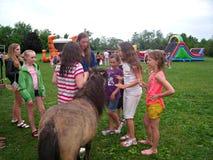 Pony at School Fair Stock Photo