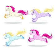 Pony set in motion Stock Image